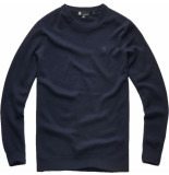 G-Star Core r knit l\s blauw