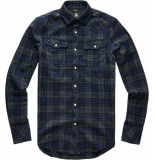 G-Star 3301 slim shirt check blauw