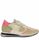 Philippe Model Sneakers tropez mondial glitter creme wit