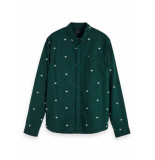 Scotch & Soda Long sleeve button down oxford shirt groen