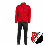 Hummel Paris polyester trainingspak sv braakhuizen rood
