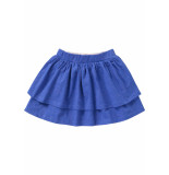 Oilily Blauwe jersey rok met roze mini-dots print-