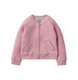 Oilily Hemi sweat cardigan 33 heart quilted solid- roze