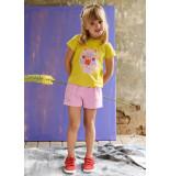 Oilily Roze sweatshortje met stoere zakken en elastische taille-
