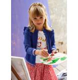 Oilily Blauw vestje met lurex voor meisjes-