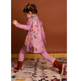Oilily Toulan jersey jurk- roze