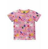 Oilily Roze jersey shirtje met kleurrijke artist print-