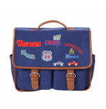 Oilily Schoolbag with flap badges-