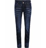 Summum Jeans blauw beige glitters