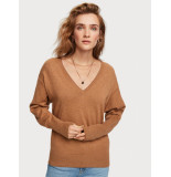 Maison Scotch 154415 cotton cashmere loose knit with v neck