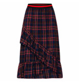 Sisters Point Maxi rok vezzi red check
