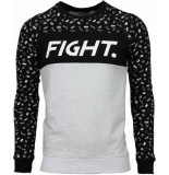 Black Number Fight pattern wit