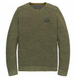 PME Legend Pkw198300 6149 crewneck cotton mouline deep lichen green groen