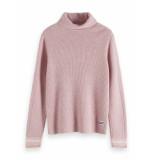 Maison Scotch Chic wool-blend turtleneck pull roze