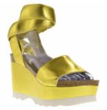 Genuins Sandalen sleehak geel