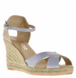 BTMR Dames sandalen silver grijs