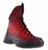 Papucei Dames veterschoenen rood