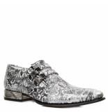New Rock Loafers zilver flower