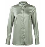 YAYA 110105-923 satin shirt groen