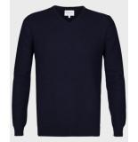 Michaelis Navy pullover met structuur blauw