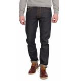 Nudie Jeans Grim tim dry selvedge jeans blauw