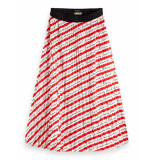 Scotch & Soda 154554 0461 ams blauw pleated plisse skirt/rok combo g rood