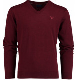 Gant Weight cotton v-neck 83072/685 bordeaux
