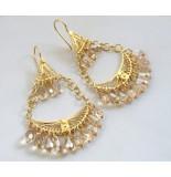 Atelier Christian 21 karaat gouden oorbellen met citrien