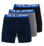 The BLUEPRINT The blueprint boxershort 3-pack blauw