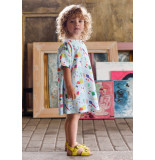 Oilily Blauw sweatjurkje met kleurrijke little artist print-