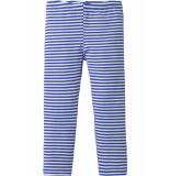 Oilily Gestreepte jersey legging voor meisjes in blauw wit-