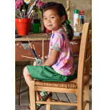 Oilily Roze jersey shirt met handgeschilderde floral print-