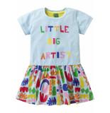Oilily Jersey jurkje blauw met fantastische kleurrijke artist print-