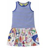 Oilily Jersey jurkje met blauwe duo print in zomerse kleuren-