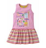 Oilily Jersey jurkje met roze duo print in zomerse kleuren-