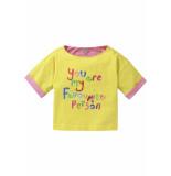 Oilily Jersey shirtje geel met kleurrijke tekst print-