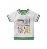 Oilily Jersey wit shirtje met kleurrijke artist print-