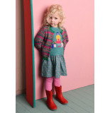 Oilily Kikido knitted cardigan 37 green- jaquard- roze