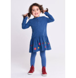 Oilily Tida jersey dress 53 solid indigo oui madame- blauw