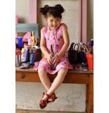 Oilily Roze jersey jurkje met vrolijke artist print-