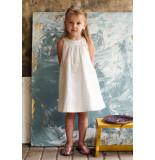 Oilily Wit mouwloos jurkje met zilveren dots print-
