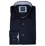 Profuomo Ppqh3a0023 business overhemden met lange mouwen 100% katoen blauw