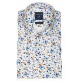Profuomo Ppqh3a1122 business overhemden met lange mouwen 100% katoen bruin