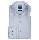 Profuomo Ppqh3a1025 business overhemden met lange mouwen 100% katoen blauw