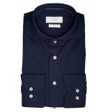 Profuomo Ppqh3c1086 business overhemden met lange mouwen 100% katoen blauw