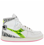 Diadora Sneakers mi basket animalier wit