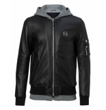 Philipp Plein Titouan eather jacket zwart