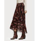 Maison Scotch 152581 printed maxi skirt bruin