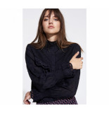 Alix 198905402 ladies woven broderie blouse.