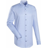Jacques Britt Heren overhemd como licht twill kent slim fit ml7 blauw